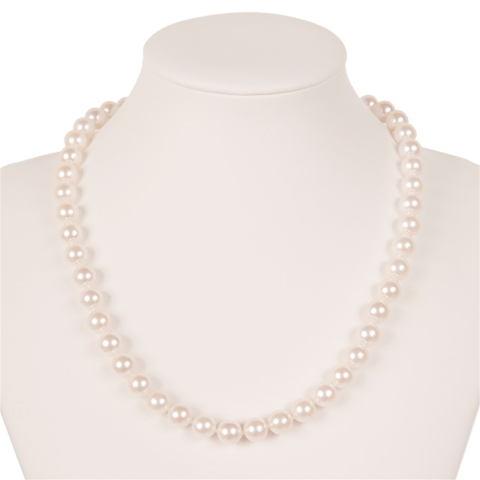 9ct White Gold Pearl Necklace