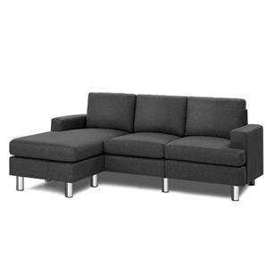 Artiss Sofa Lounge Set Couch Futon Corne