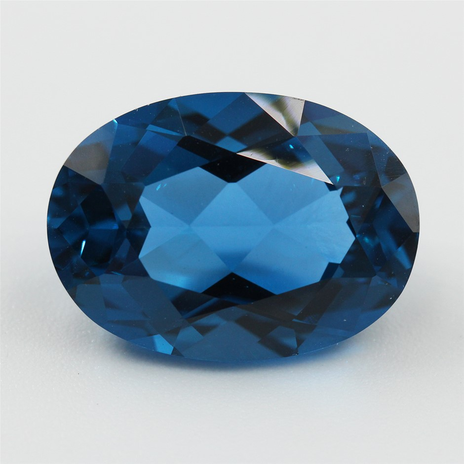 One Loose Blue Topaz, 14.86ct in Total