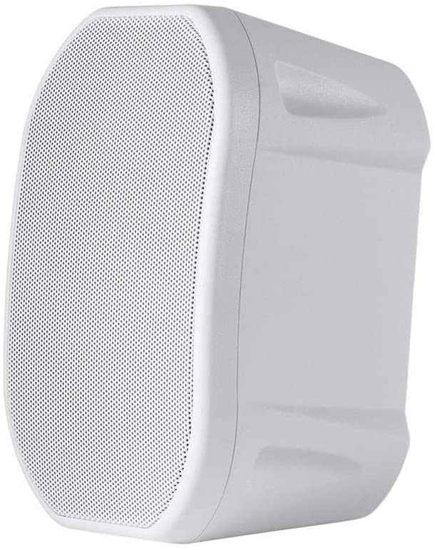 MONOPRICE 4-inch Weatherproof 2-Way Speakers with Wall Mount Bracket, Colou