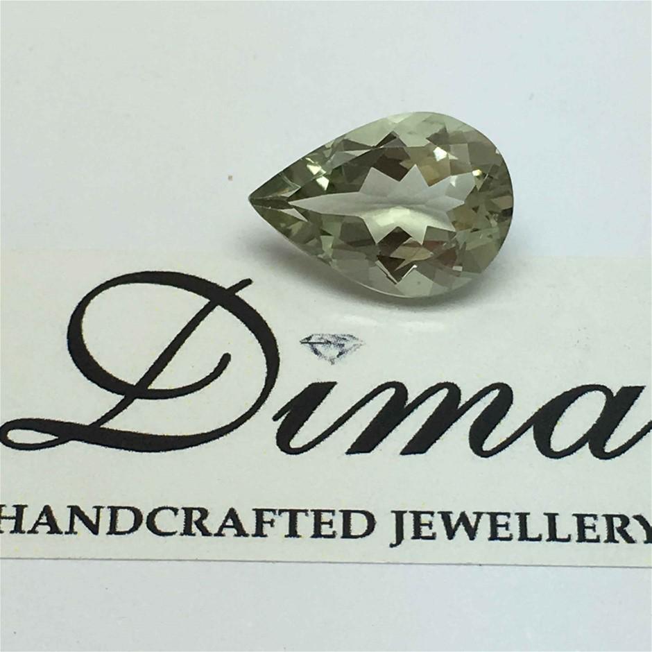 One Stone Green Amethyst Pear 4.82ct