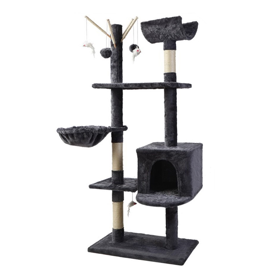 i.Pet Cat Tree Trees Scratching Post Tower Condo House Furniture Wood