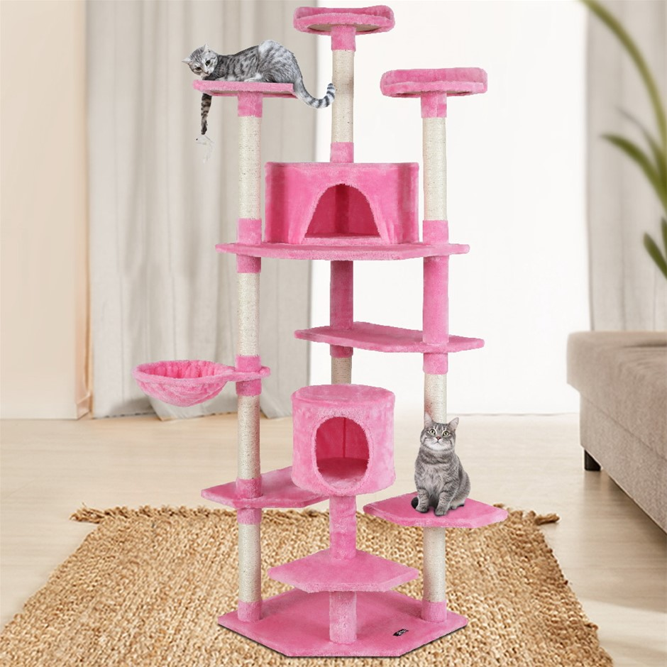 i.Pet Cat Tree Trees Scratching Post Scratcher Tower Condo Wood Pink 203cm