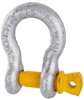 8 x Bow Shackles, WLL 1.5T, Screw Pin Type, Grade S, Yellow Pin. Buyers Not