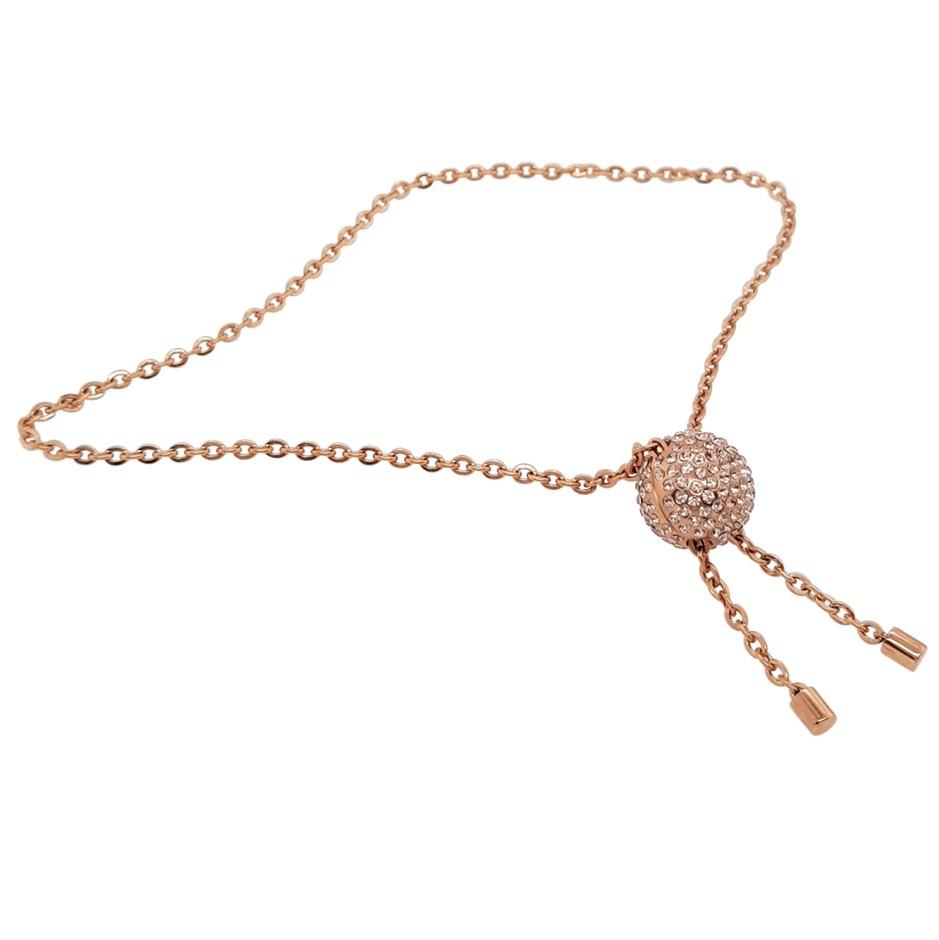 Calvin Klein Rose Gold Crystal Side Bracelet