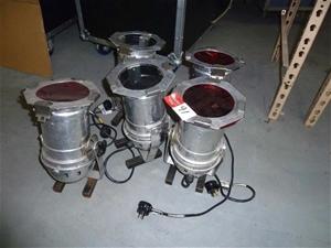 Qty 5 x Aluminium Par Can Lights