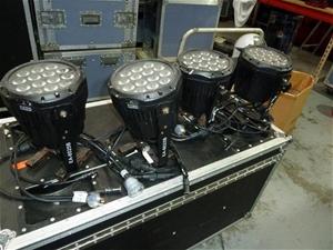 Qty 4 x Proshop EA6025B Outdoor LED Par