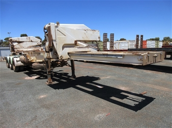 1997 Steel Brothers SBS2933 Triaxle 20/40 Side Lifter Trailer