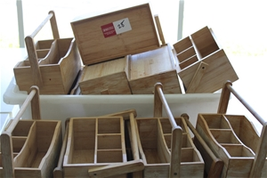 Qty of Wooden Cutlery Trays