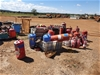 Assortment of Used Fire Suppression Bottles.