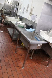 S/Steel Bench with Sink