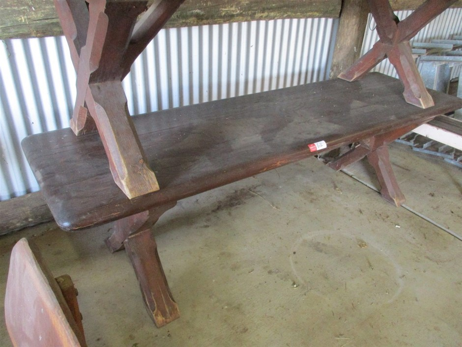 Qty 1 x Old Timber Table