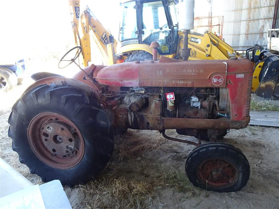 Mc Cormick International Standard W-6 Tractor