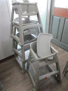 Qty 4 x High Chairs