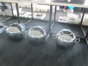 Qty 3 x Athena Induction Chafing Dishes