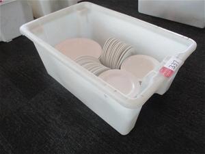 Tub Quantity Various Dinnerware