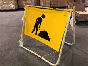 Safety Swing Construction Signs H/D Stee