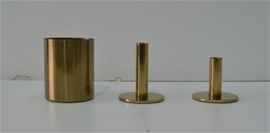 Brass collection of Vase and Candlestick