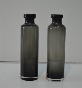 15 x Black glass bottle/vase, Slightly t