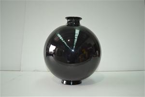 8 x Freedom Glass Metallic black vase, 4