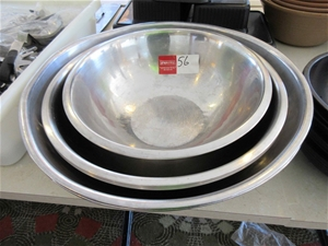 7 x Stainless Steel Bowls