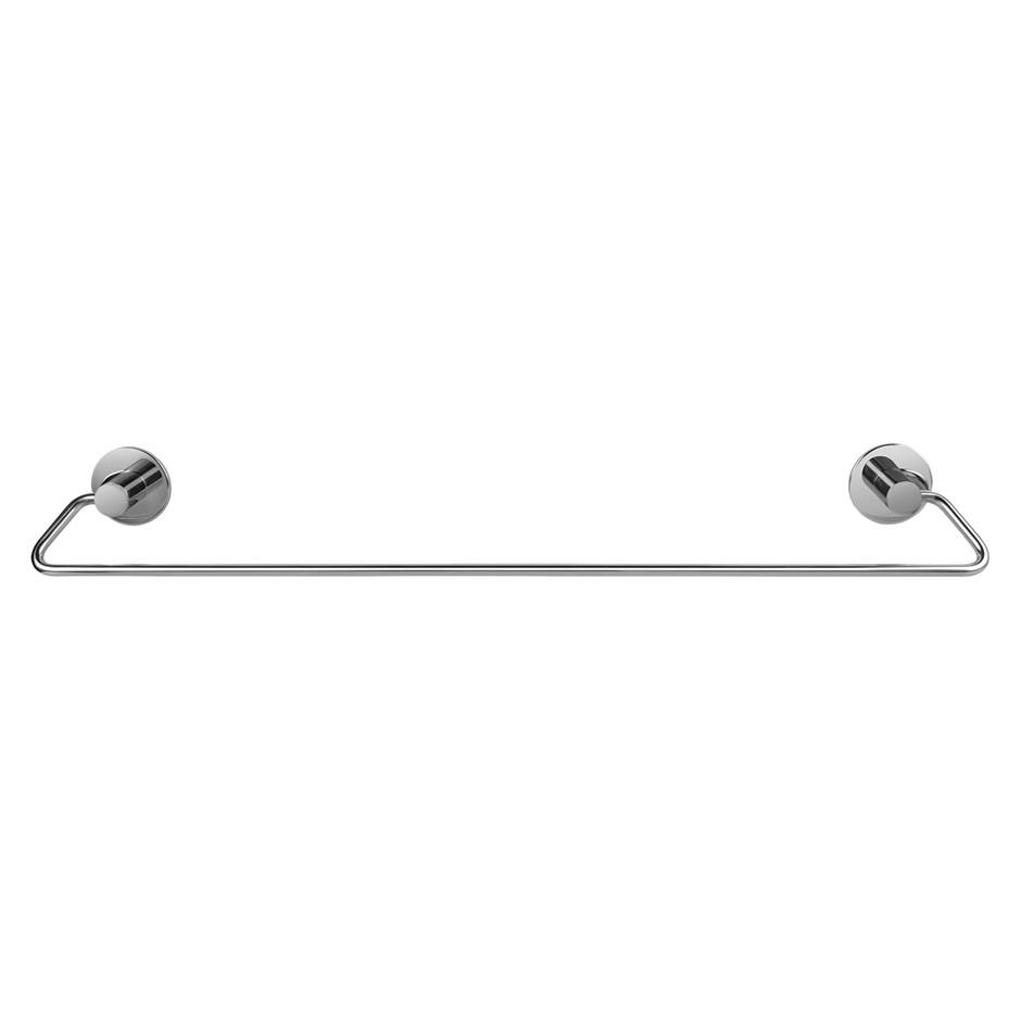 600mm Self Adhesive Chrome Single Towel Rail Wall Mounted Drill Free
