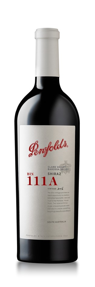 Penfolds Bin 111A Shiraz 2016 Gift Boxed (1x 750mL). SA