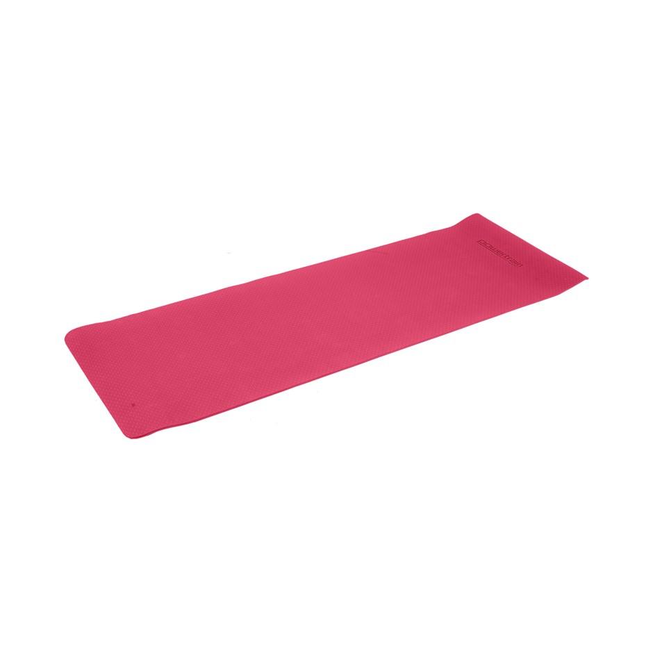 Powertrain Eco Friendly TPE Yoga Exercise Pilates Mat 6mm - Rose Pink