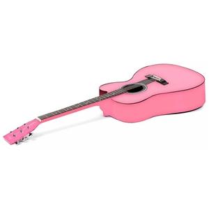 Karrera 38in Cutaway Acoustic Guitar wit