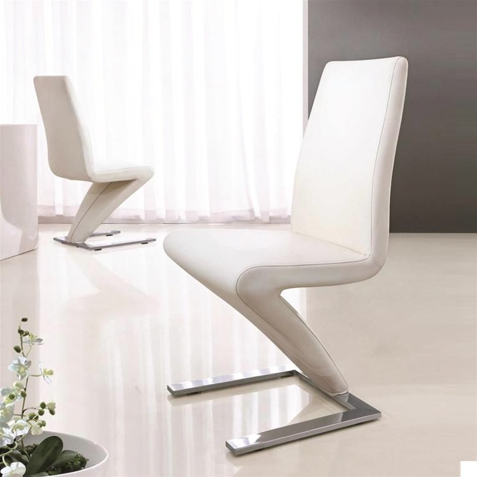 This deluxe designer Z shape dining chair can accompany any dining table