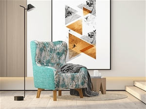 Armchair High back Lounge Accent Chair D