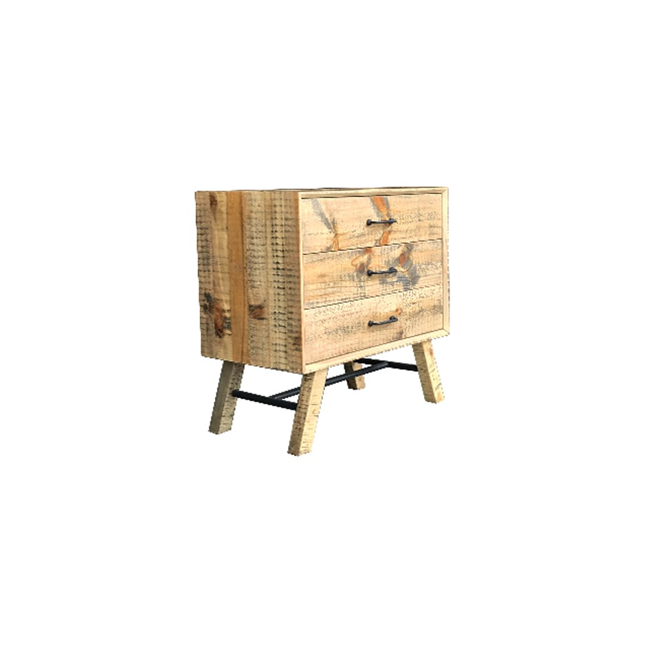 Bondi Bedside Table is a wooden vintage style with attractive ozzy colour