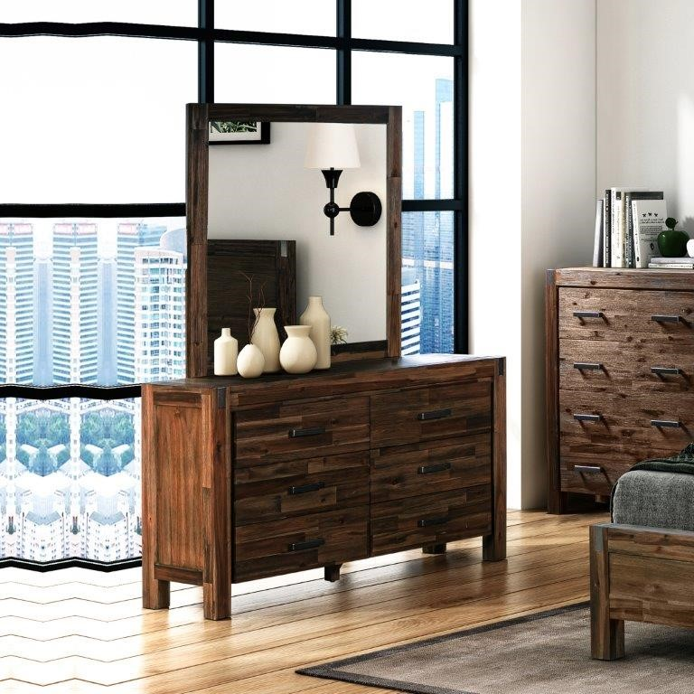 Java dresser has a simple appearance made from Solid Acacia Frames