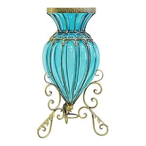 SOGA Blue Colored European Glass Floor D