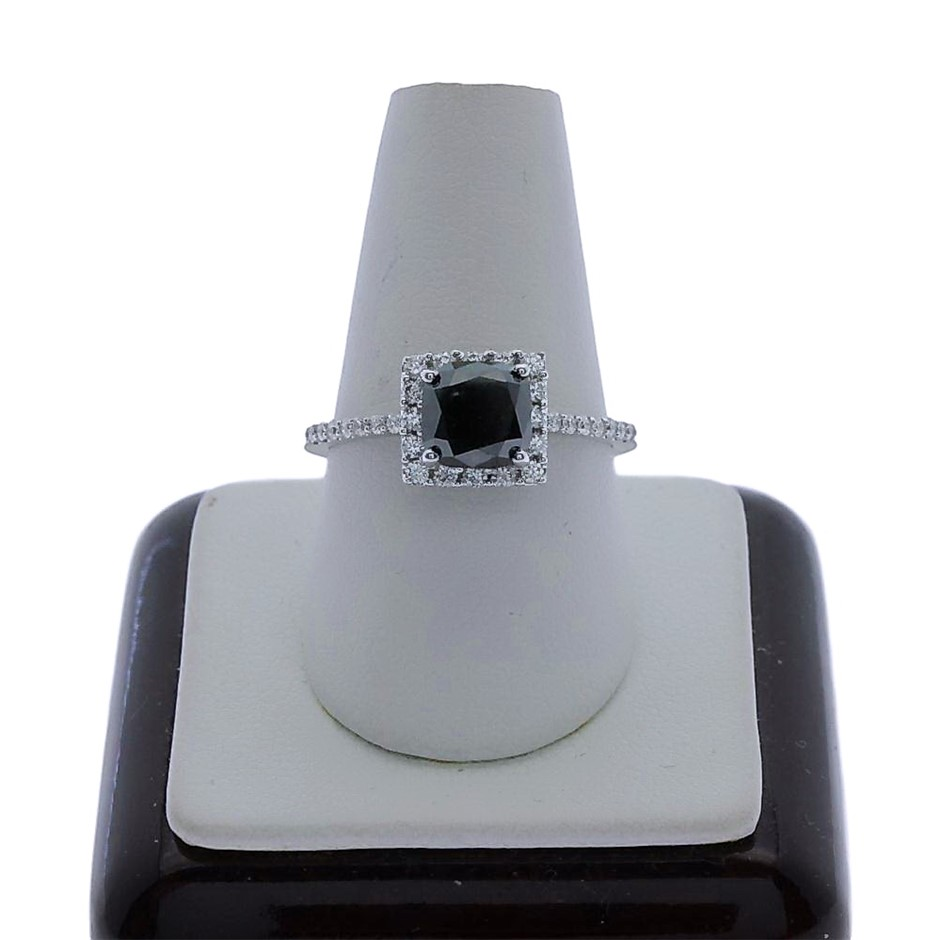 18ct White Gold, 2.26ct Diamond Engagement Ring