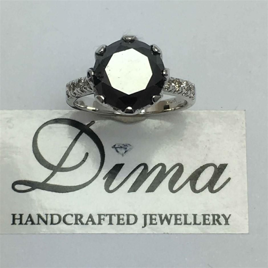 18ct White Gold, 4.79ct Diamond Ring