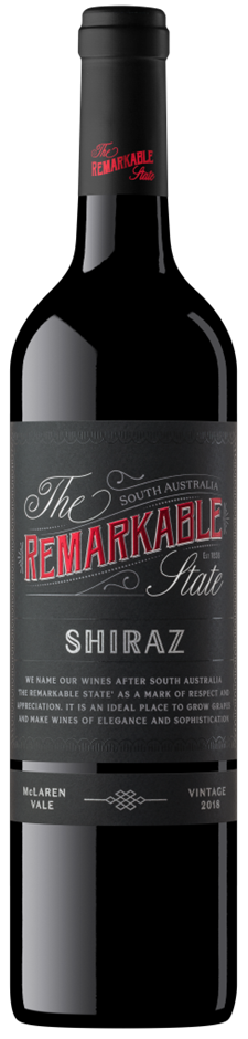 Remarkable State Black Label McLaren Vale Shiraz 2018 (6 x 750mL) SA