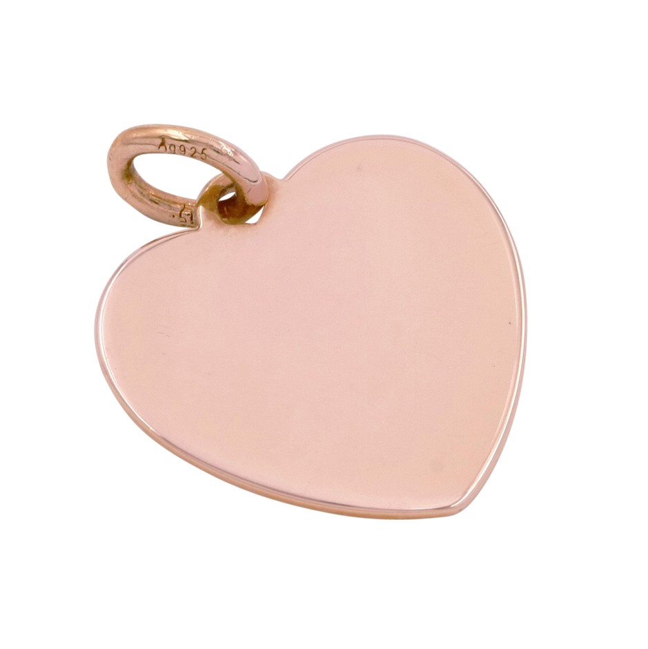 Thomas Sabo Rose Gold Plated Engravable Large Heart Pendant.