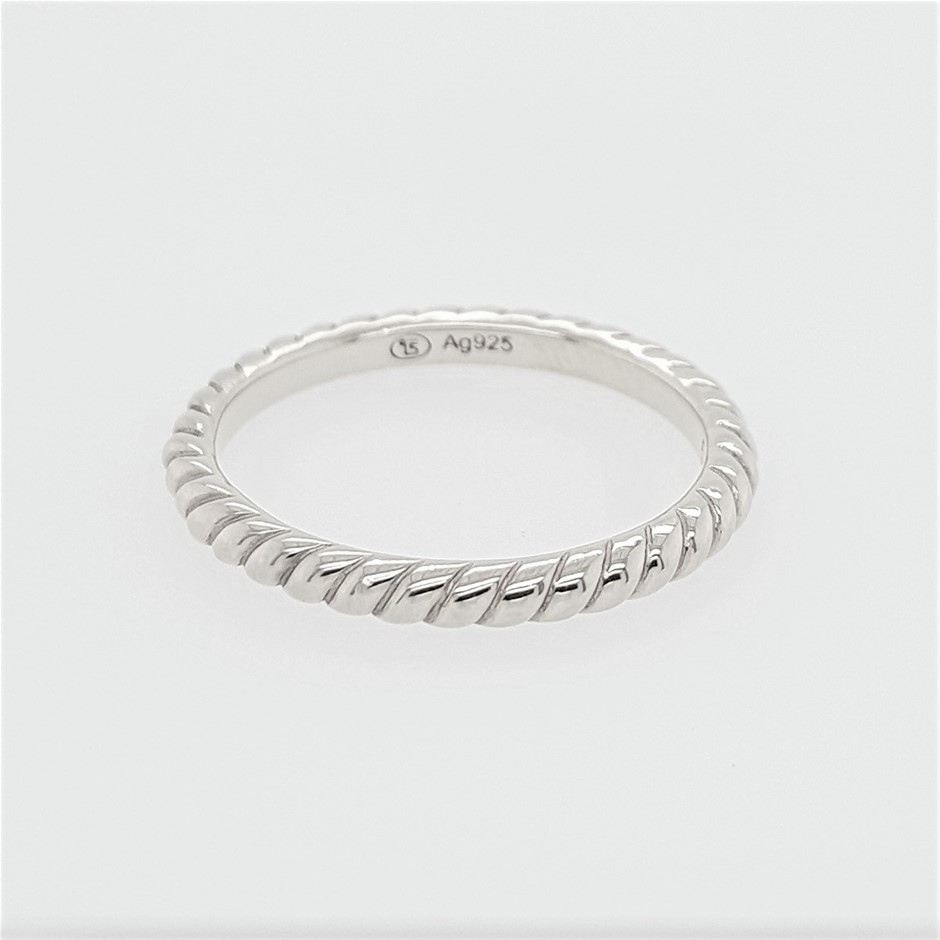 Thomas Sabo Sterling Silver Rope Polished Ring.