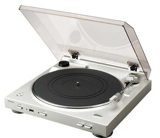 Denon DP-29F Fully Automatic Turntable (Silver)