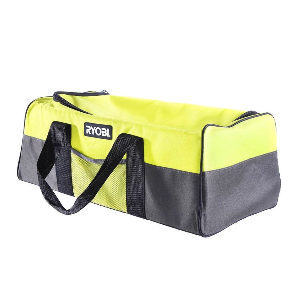 RYOBI Tool Bag 535 x 230 x 200mm with Zip Top Opening and 2 x Side Pockets.