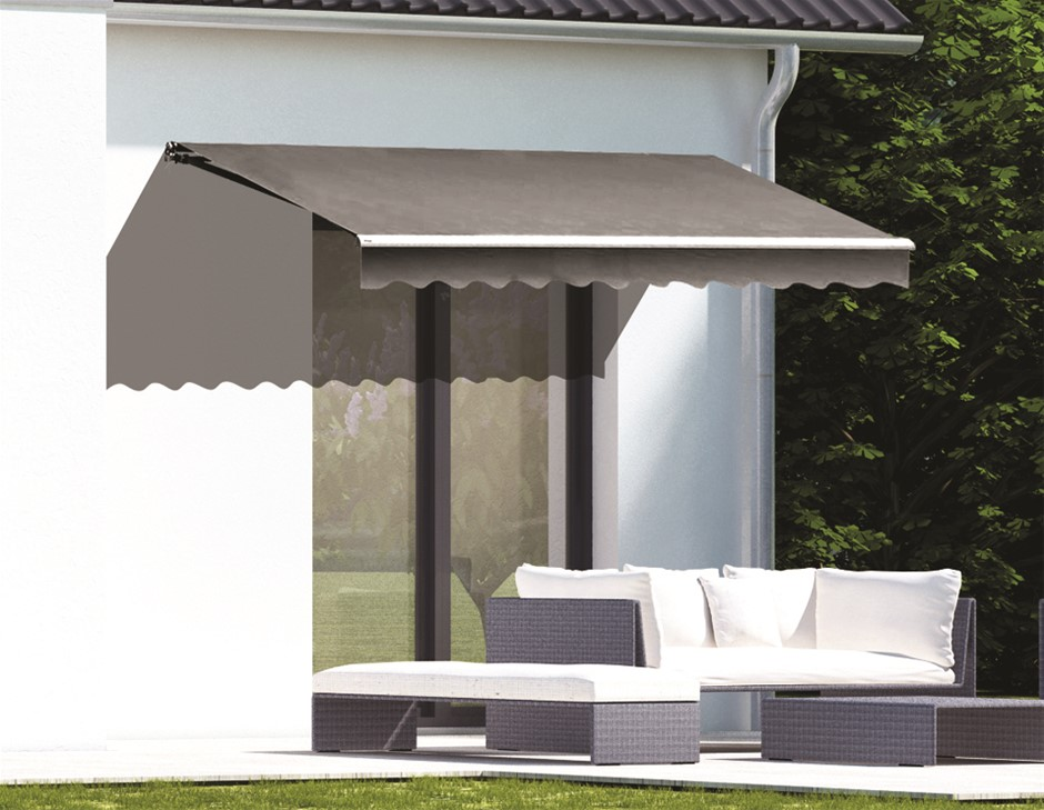 Motorised Outdoor Folding Arm Awning Retractable Sunshade Canopy 3.0mx2.5m