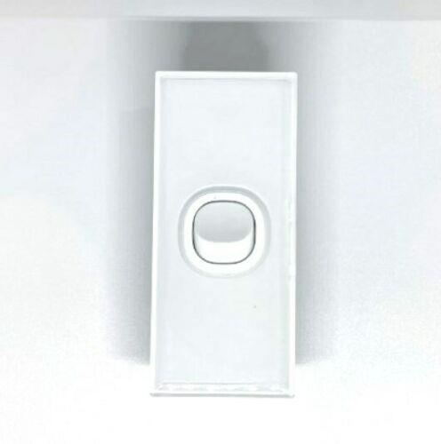 Qty 10 x Lumex Silica Glass Wall Light Switch Architrave 1 Gang 16A
