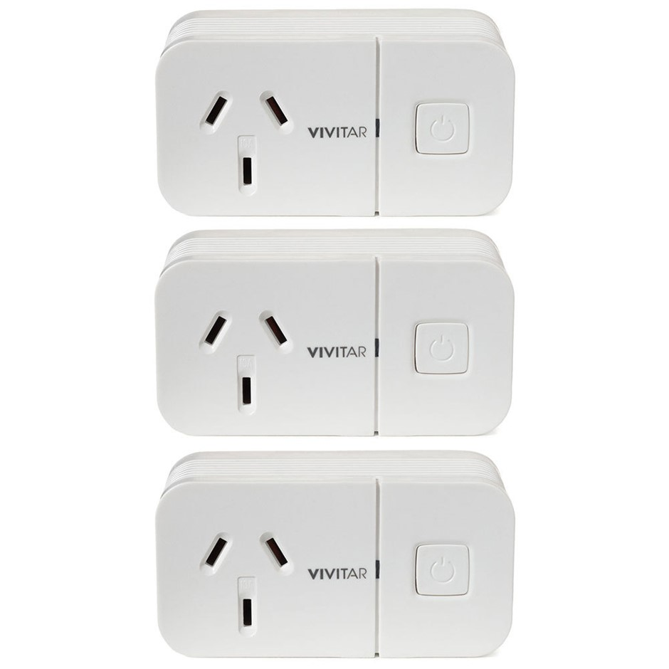 3PK Vivitar HA-1006 Wireless Wi-Fi Remote Plug