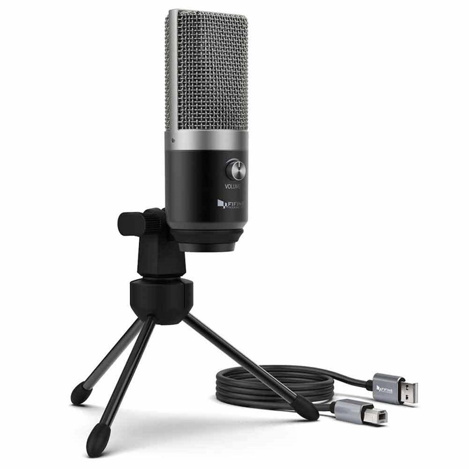 Fifine Technology K681 USB Condenser - Black/Silver