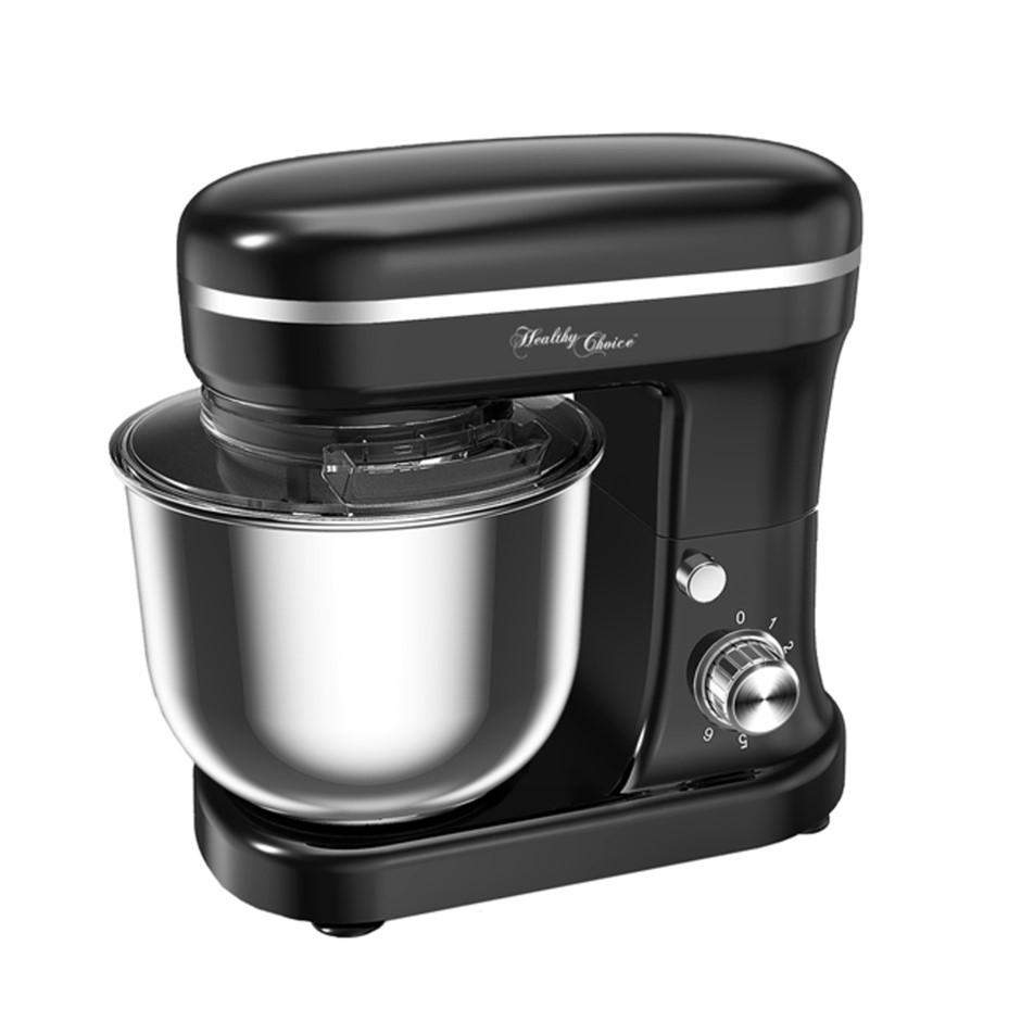 Healthy Choice 1200W 5L Bowl Mix Master Stand Mixer - Black