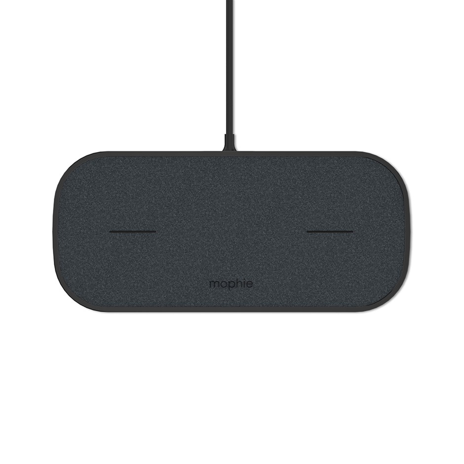 Mophie Dual Wireless Charging Pad Fabric Universal Wireless Charger - Black