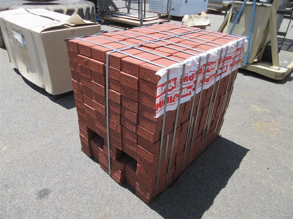 10 x Packs of Heavy Duty Red Paver Bricks