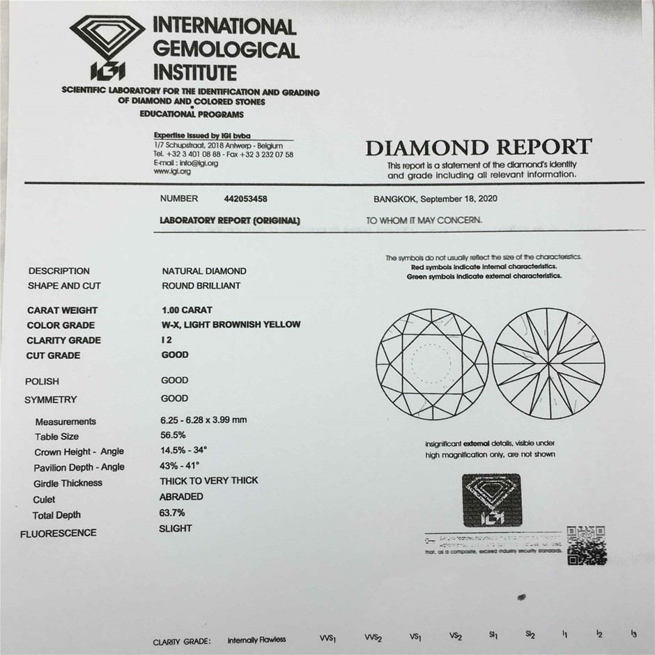 18ct White Gold, 1.50ct IGI Diamond Engagement Ring