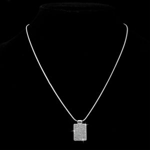 Pave Pendant Featuring 63 Crystals by Sw